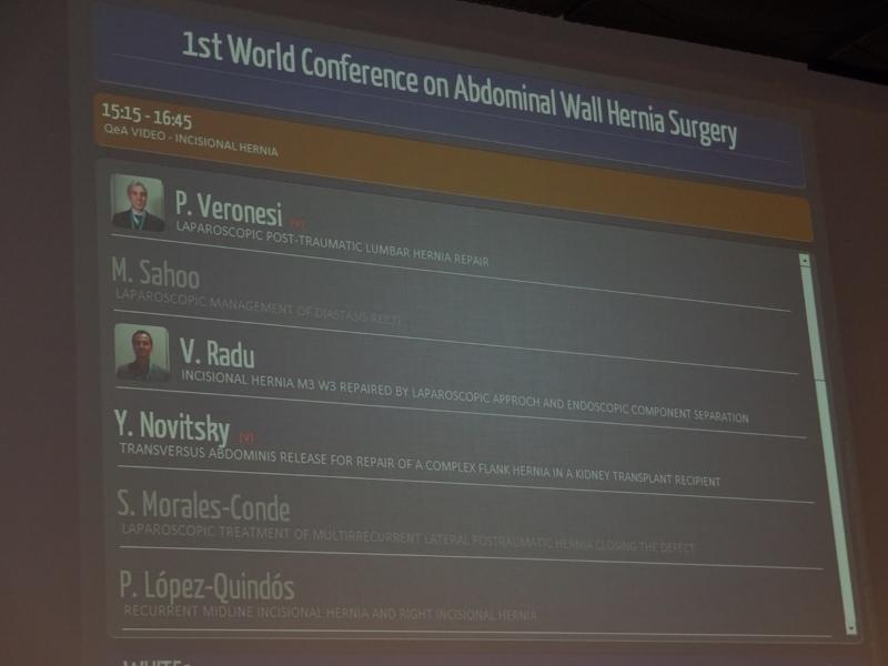 Primul Congres Mondial de Chirurgie a Peretelui Abdominal